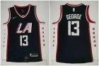 Cheap Clippers 13 Paul George Navy City Edition Nike Swingman Jersey