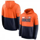 Cheap Denver Broncos Nike Sideline Impact Lockup Performance Pullover Hoodie Orange Navy