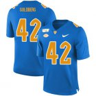 Cheap Pittsburgh Panthers 42 Marshall Goldberg Blue 150th Anniversary Patch Nike College Football Jersey