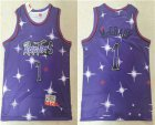 Cheap Men's Toronto Raptors #1 Tracy McGrady Starry Purple Hardwood Classics Soul Swingman Throwback Jersey