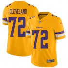 Cheap Nike Vikings #72 Ezra Cleveland Gold Men's Stitched NFL Limited Inverted Legend Jersey