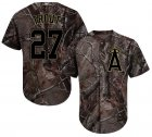 Cheap Angels #27 Mike Trout Camo Realtree Collection Cool Base Stitched Youth MLB Jersey