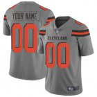 Cheap Nike Cleveland Browns Customized Gray Men's Stitched NFL Limited Inverted Legend Jersey