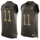 Cheap Nike Jets #11 Denzel Mim Green Men's Stitched NFL Limited Salute To Service Tank Top Jersey