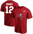 Cheap Men's Tampa Bay Buccaneers Tom Brady Fanatics Branded Red Super Bowl LV Champions Big & Tall Name & Number T-Shirt