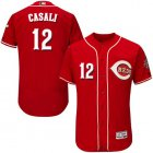 Cheap Reds #12 Curt Casali Red Flexbase Authentic Collection Stitched MLB Jersey