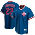 Cheap Chicago Cubs #23 Ryne Sandberg Nike Road Cooperstown Collection Player MLB Jersey Royal