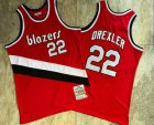 Cheap Portland Trail Blazers #22 Clyde Drexler Red 1983-84 Hardwood Classics Soul AU Throwback Jersey