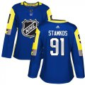 Cheap Adidas Lightning #91 Steven Stamkos Royal 2018 All-Star Atlantic Division Authentic Women's Stitched NHL Jersey