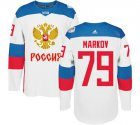 Cheap Team Russia #79 Andrei Markov White 2016 World Cup Stitched NHL Jersey