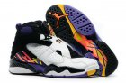 Cheap Womens Air Jordan 8 Three Peat White/Black-Blue-red