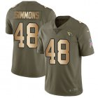 Cheap Nike Cardinals #48 Isaiah Simmons Olive/Gold Youth Stitched NFL Limited 2017 Salute To Service Jersey