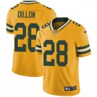 Cheap Nike Packers #28 AJ Dillon Yellow Youth Stitched NFL Limited Rush Jersey
