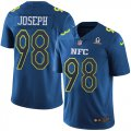 Cheap Nike Vikings #98 Linval Joseph Navy Men's Stitched NFL Limited NFC 2017 Pro Bowl Jersey