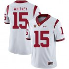 Cheap USC Trojans 15 Isaac Whitney White College Football Jersey
