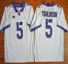 Cheap TCU Horned Frogs #5 LaDainian Tomlinson White 2015 College Football Jersey