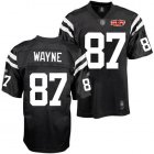 Cheap Colts #87 Reggie Wayne Black Shadow With Super Bowl Patch Stitched NFL Jersey