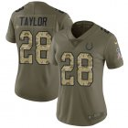 Cheap Nike Colts #28 Jonathan Taylor Olive/Camo Women's Stitched NFL Limited 2017 Salute To Service Jersey