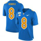 Cheap Pittsburgh Panthers 8 Dewayne Hendrix Blue 150th Anniversary Patch Nike College Football Jersey