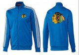 Cheap NHL Chicago Blackhawks Zip Jackets Blue-2