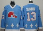 Cheap Nordiques #13 Mats Sundin Light Blue CCM Throwback Stitched NHL Jersey