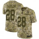 Cheap Nike Colts #28 Jonathan Taylor Camo Youth Stitched NFL Limited 2018 Salute To Service Jersey