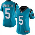 Cheap Nike Panthers #5 Teddy Bridgewater Blue Alternate Women's Stitched NFL Vapor Untouchable Limited Jersey