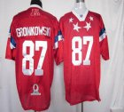 Cheap Patriots #87 Rob Gronkowski Red 2012 Pro Bowl Stitched NFL Jersey