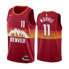 Cheap Nike Nuggets #11 Monte Morris Red NBA Swingman 2020-21 City Edition Jersey
