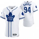 Cheap Toronto Maple Leafs #94 Tyson Barrie Men's 2020 NHL x MLB Crossover Edition Baseball Jersey White