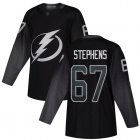 Cheap Adidas Lightning #67 Mitchell Stephens Black Alternate Authentic Stitched NHL Jersey