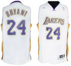 Cheap Los Angeles Lakers #24 Kobe Bryant Revolution 30 Swingman White Jersey
