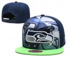 Cheap Seahawks Team Logo Navy Adjustable Leather Hat TX