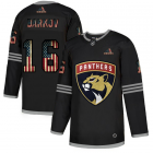 Cheap Florida Panthers #16 Aleksander Barkov Adidas Men's Black USA Flag Limited NHL Jersey