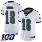 Cheap Nike Eagles #18 Jalen Reagor White Women's Stitched NFL 100th Season Vapor Untouchable Limited Jersey