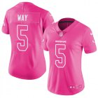 Cheap Nike Redskins #5 Tress Way Pink Women's Stitched NFL Limited Rush Fashion Jersey