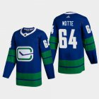 Cheap Vancouver Canucks #64 Tyler Motte Men's Adidas 2020-21 Authentic Player Alternate Stitched NHL Jersey Blue