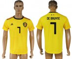 Cheap Belgium #7 De Bruyne Away Soccer Country Jersey
