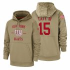 Cheap New York Giants #15 Golden Tate III Nike Tan 2019 Salute To Service Name & Number Sideline Therma Pullover Hoodie