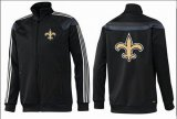 Cheap NFL New Orleans Saints Team Logo Jacket Black_3