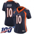 Cheap Nike Broncos #10 Jerry Jeudy Navy Blue Alternate Women's Stitched NFL 100th Season Vapor Untouchable Limited Jersey