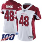 Cheap Nike Cardinals #48 Isaiah Simmons White Women's Stitched NFL 100th Season Vapor Untouchable Limited Jersey