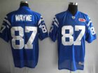 Cheap Colts #87 Reggie Wayne Blue With Super Bowl Patch Stitched NFL Jersey