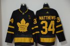 Cheap Adidas Maple Leafs #34 Auston Matthews Black City Edition Authentic Stitched NHL Jersey