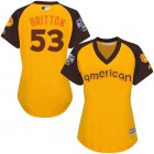Cheap Orioles #53 Zach Britton Gold 2016 All-Star American League Women's Stitched MLB Jersey