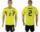 Cheap Colombia #2 Zapata Home Soccer Country Jersey