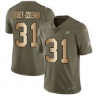 Cheap Nike Eagles #31 Nickell Robey-Coleman Olive/Gold Men's Stitched NFL Limited 2017 Salute To Service Jersey