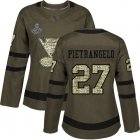 Cheap Adidas Blues #27 Alex Pietrangelo Green Salute to Service Stanley Cup Champions Women's Stitched NHL Jersey