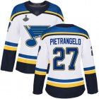 Cheap Adidas Blues #27 Alex Pietrangelo White Road Authentic Stanley Cup Champions Women's Stitched NHL Jersey