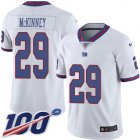 Cheap Nike Giants #29 Xavier McKinney White Youth Stitched NFL Limited Rush 100th Season Jersey